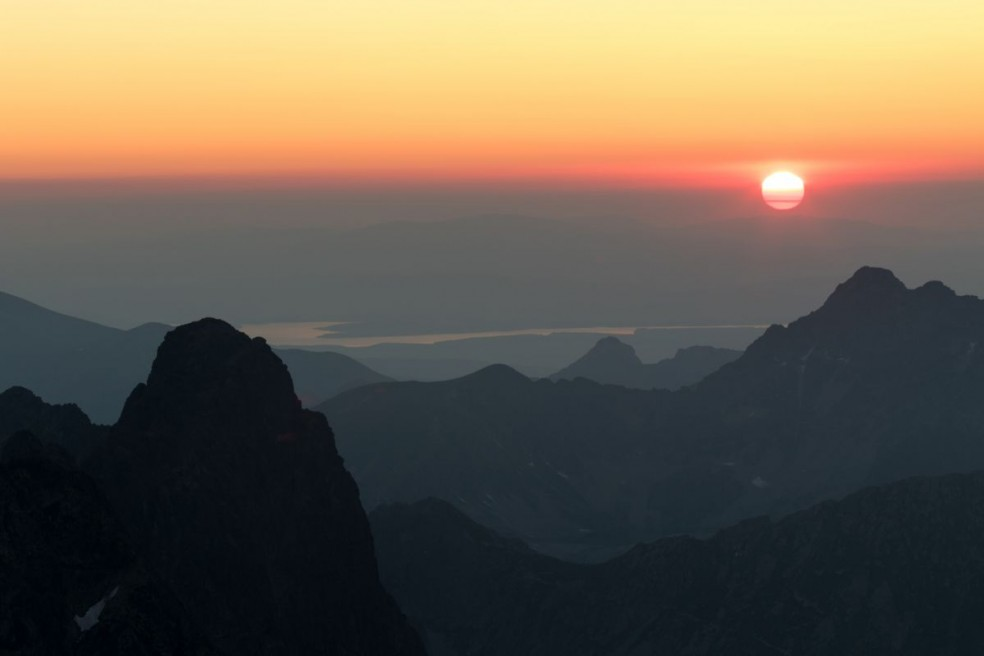 Sunset over Giewont and Svinica