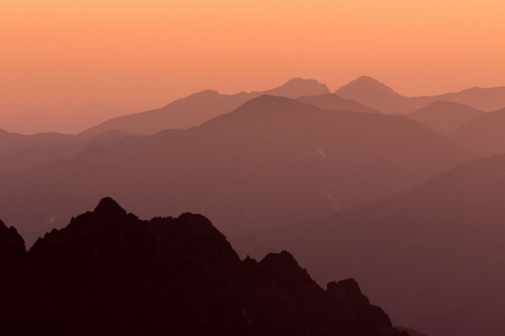 Sunset over Western Tatras